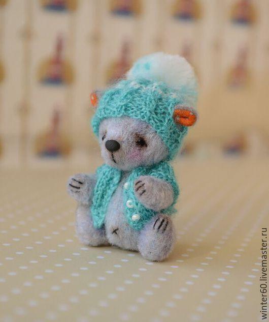 Мишки Тедди ручной работы. Ярмарка Мастеров - ручная работа. Купить Медвежонок Капелюшка. Handmade. Бледно-сиреневый, в одежде