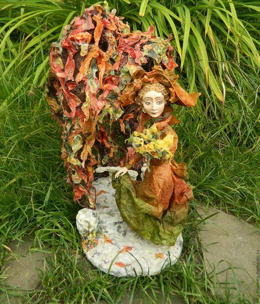Коллекционные куклы ручной работы. Ярмарка Мастеров - ручная работа. Купить Осень. Handmade. Кукла ручной работы, Паперклей