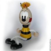 """Куклы и игрушки ручной работы. Ярмарка Мастеров - ручная работа Игрушка """"Пчела"""" на пружинке. Handmade."""