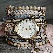 Украшения handmade. Livemaster - original item Women`s BOHO wrist watch with jasper