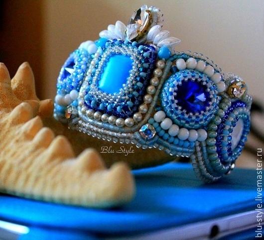 """Браслеты ручной работы. Ярмарка Мастеров - ручная работа. Купить Браслет """"Mediterraneo"""". Handmade. Тёмно-бирюзовый, средиземноморье, красивый браслет"""