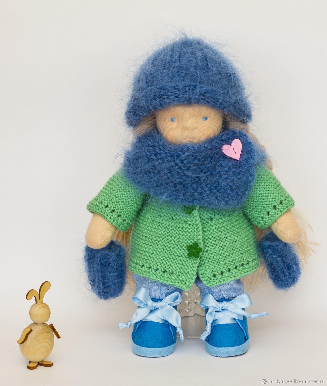 Вальдорфская игрушка ручной работы. Ярмарка Мастеров - ручная работа. Купить Вальдорфская кукла, 26 см, с набором одежды. Handmade.