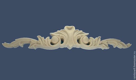 Мебельный накладной резной декор из полиуретанового пластика, элементы декора и орнаменты для мебели, дверей, дверных и каминных порталов, декоративные элементы и накладки из пластика