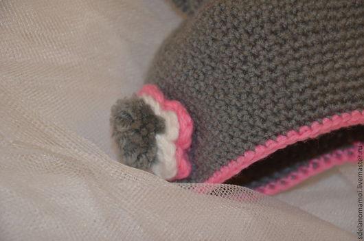 Для новорожденных, ручной работы. Ярмарка Мастеров - ручная работа. Купить костюм для фотосессий серый зайка. Handmade. Серый