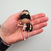 handmade. Livemaster - original item Frida doll brooch in a gift box.. Handmade.