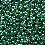 Материалы для творчества handmade. Livemaster - original item 10 grams of 10/0 seed Beads, Czech Preciosa 56060 Premium dark green transparent crysta. Handmade.