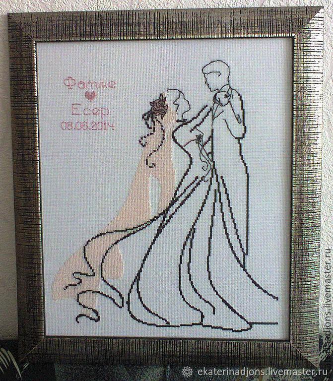 Схема вышивки свадьба крестом