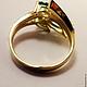 Кольца ручной работы. Золотое бриллиантовое кольцо Хризолиты 585 пробы. GOLDJEWELRY-BK. Интернет-магазин Ярмарка Мастеров. Кольцо