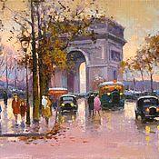 Картины и панно ручной работы. Ярмарка Мастеров - ручная работа L`Arc de Triomphe. Handmade.
