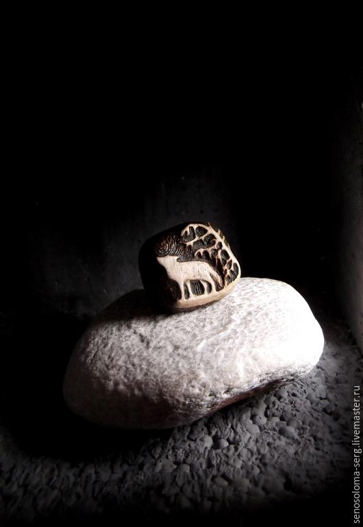 """Кольца ручной работы. Ярмарка Мастеров - ручная работа. Купить Кольцо """"Волк"""". Handmade. Коричневый, кольцо с волком, авторский рисунок"""