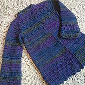Работы для детей, handmade. Livemaster - original item Knitted cardigan-coat