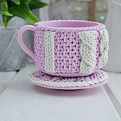 Form handmade. Livemaster - original item Silicone soap mold Knitted Cup and saucer. Handmade.