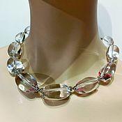 Украшения handmade. Livemaster - original item Necklace with rock crystal. Handmade.