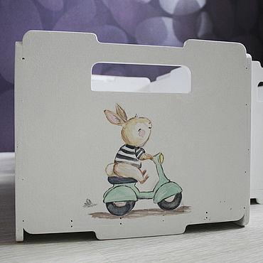 Для дома и интерьера ручной работы. Ярмарка Мастеров - ручная работа Ящик для игрушек. Handmade.