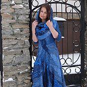 """Одежда ручной работы. Ярмарка Мастеров - ручная работа Валяное платье и снуд """"Блеск далёких звезд"""". Handmade."""