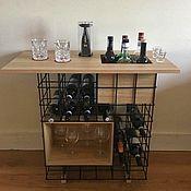 Мебель ручной работы. Ярмарка Мастеров - ручная работа Стеллаж для вина. Handmade.