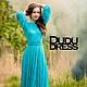 Платья ручной работы. Заказать Кружевное платье в пол бирюза. Dudu-dress. Ярмарка Мастеров. Бирюза, шикарное платье, трикотаж
