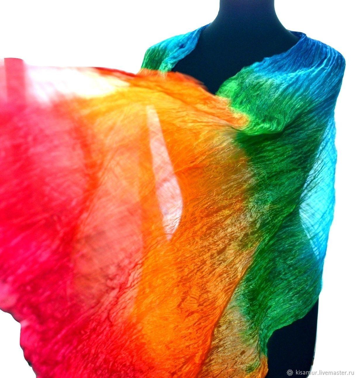Livemaster - handmade. Buy the women s silk scarf rainbow colors rainbow  bright ... 6daf41a0c