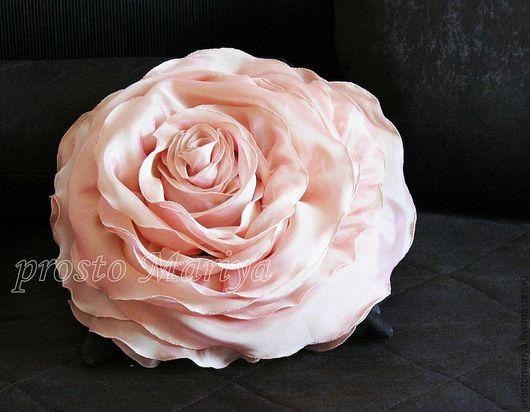 Текстиль, ковры ручной работы. Ярмарка Мастеров - ручная работа. Купить просто Роза.......... Handmade. Коралловый, микровуаль