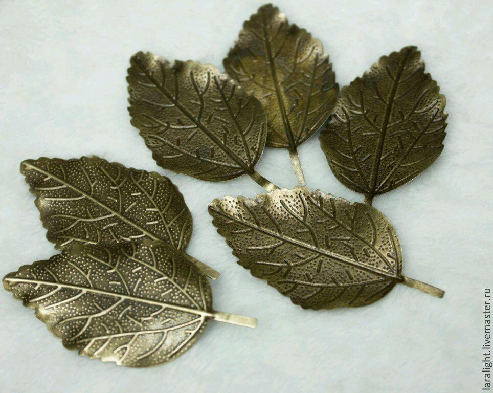 Листок декоративный металлический