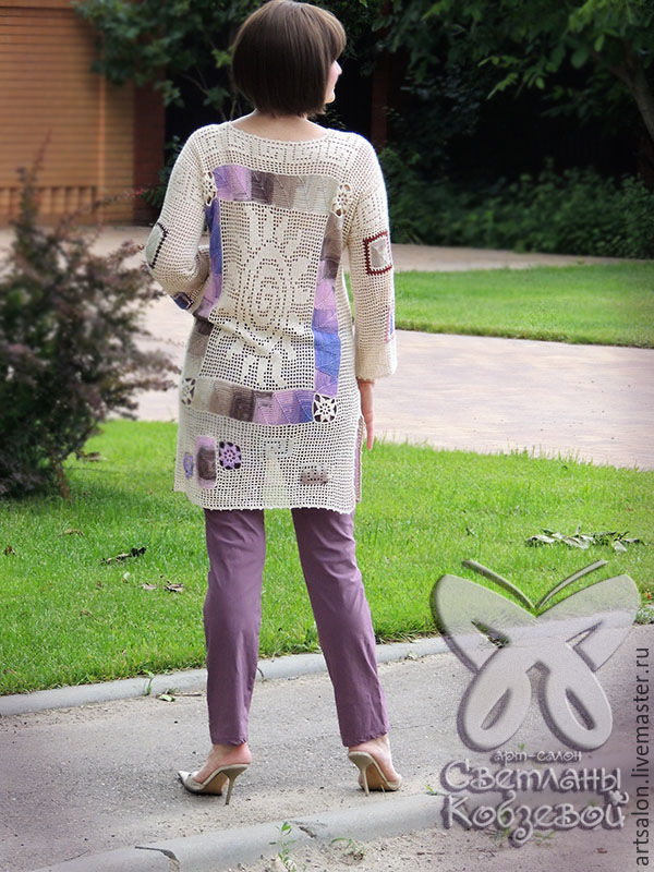 8ee519e73a3 Арт-салон Светланы Кобзевой Кофты и свитера ручной работы. Туника