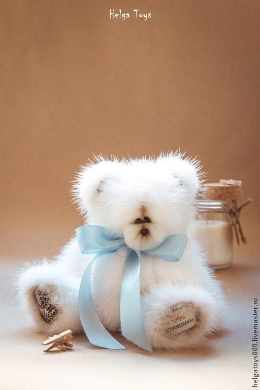 """Мишки Тедди ручной работы. Ярмарка Мастеров - ручная работа. Купить Мишка """"Мелвин"""". Handmade. Белый, тедди медведи"""