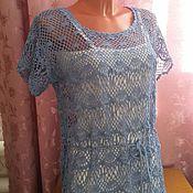 Одежда ручной работы. Ярмарка Мастеров - ручная работа топ синева моря. Handmade.