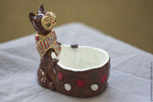 """Кружки и чашки ручной работы. Ярмарка Мастеров - ручная работа. Купить Керамическая чашка """"Кот с острова принцев"""". Handmade. кот"""
