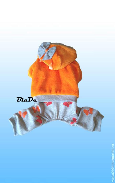 Одежда для собак, ручной работы. Ярмарка Мастеров - ручная работа. Купить Теплый комбинезон для собаки. Handmade. Рыжий, одежда на заказ