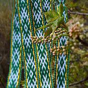 """Русский стиль ручной работы. Ярмарка Мастеров - ручная работа """"В гармонии с природой"""" 2 - тканый пояс. Handmade."""