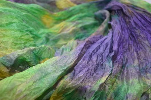 Шарфы и шарфики ручной работы. Ярмарка Мастеров - ручная работа. Купить большой шелковый шарф ручная окраска, натуральный шёлк. Handmade.