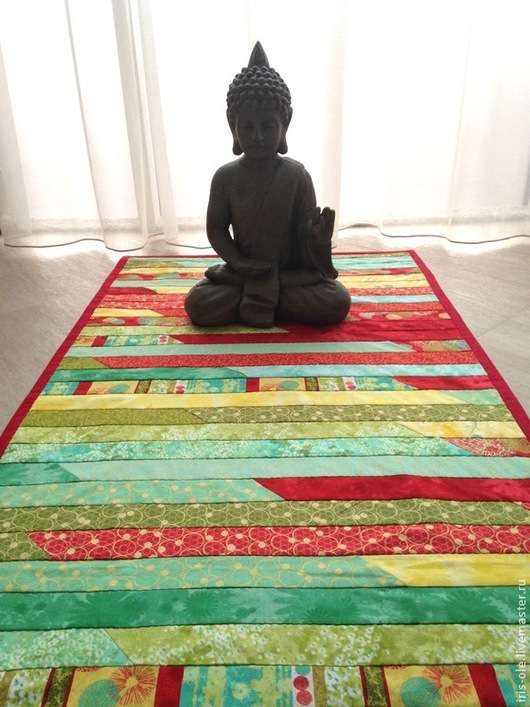 Детская ручной работы. Ярмарка Мастеров - ручная работа. Купить ЛЕТНИЙ ДОЖДЬ коврик для йоги, пэчворк. Handmade. Пэчворк