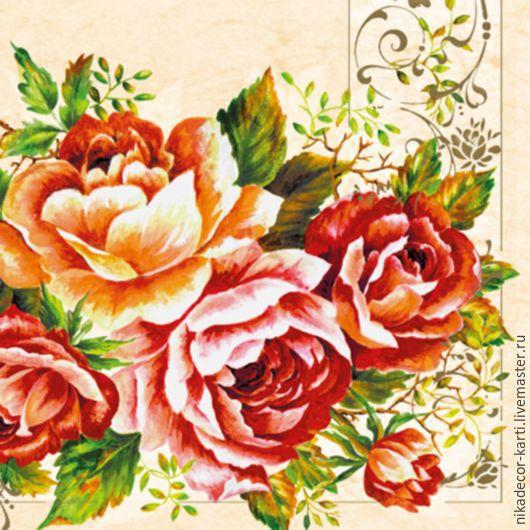 Розы (SLOG022901) - салфетка для декупажа, , Москва, Фото №1