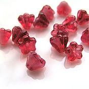 Материалы для творчества handmade. Livemaster - original item Beads glass flowers Czech Republic. Handmade.