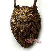 """Музыкальные инструменты handmade. Livemaster - original item Hand-made clay Ocarina (Tin whistle) """"Lion"""".Exclusive whistle. Handmade."""