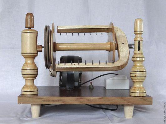 Вязание ручной работы. Ярмарка Мастеров - ручная работа. Купить Прялка электрическая для прядения пуха и шерсти.. Handmade. Коричневый, работа