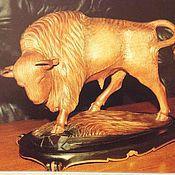 Дизайн и реклама handmade. Livemaster - original item 26. Bison wood carving. Handmade.
