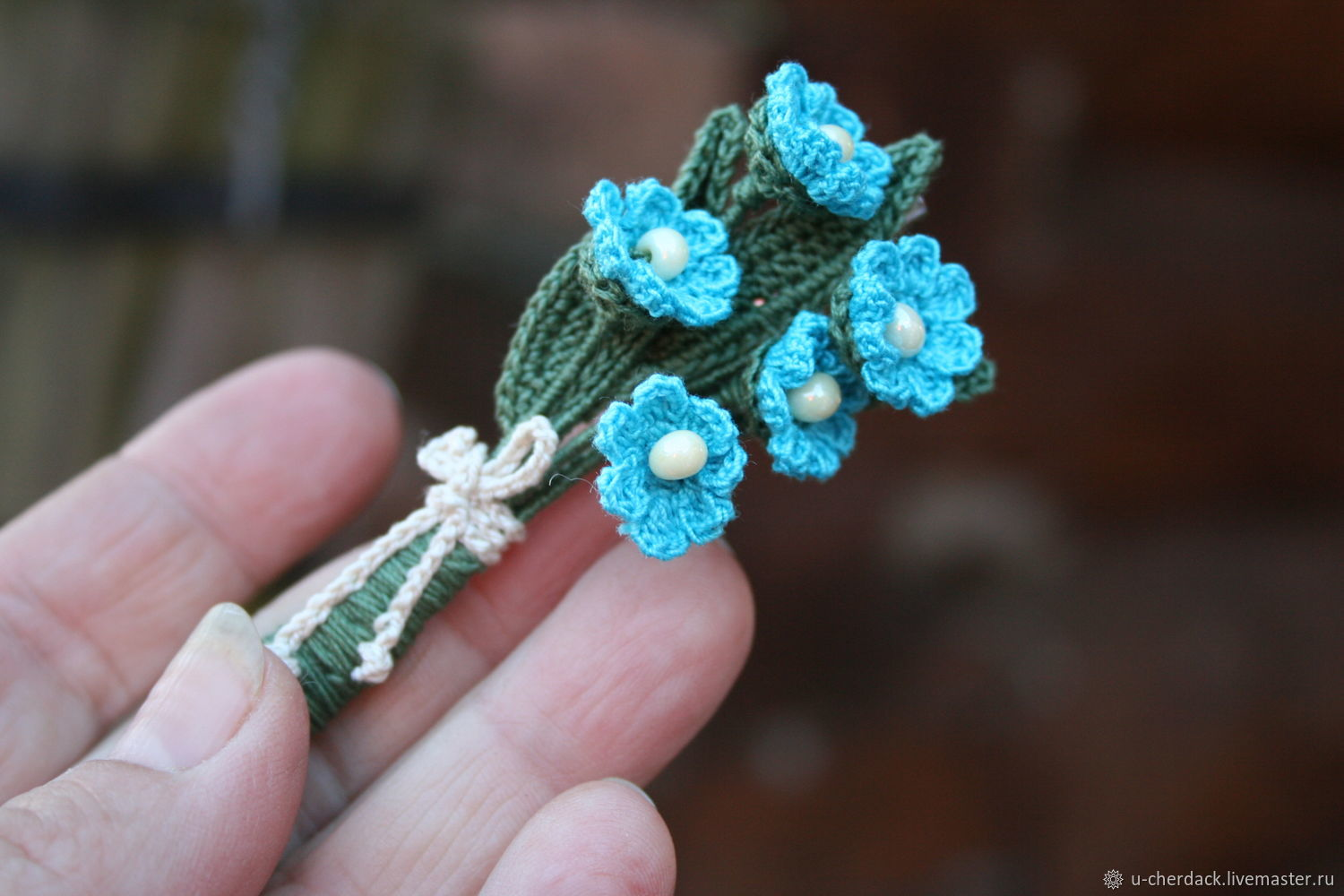 Brooch 'Bouquet of forget-me-nots', Brooches, Pavlovsky Posad,  Фото №1