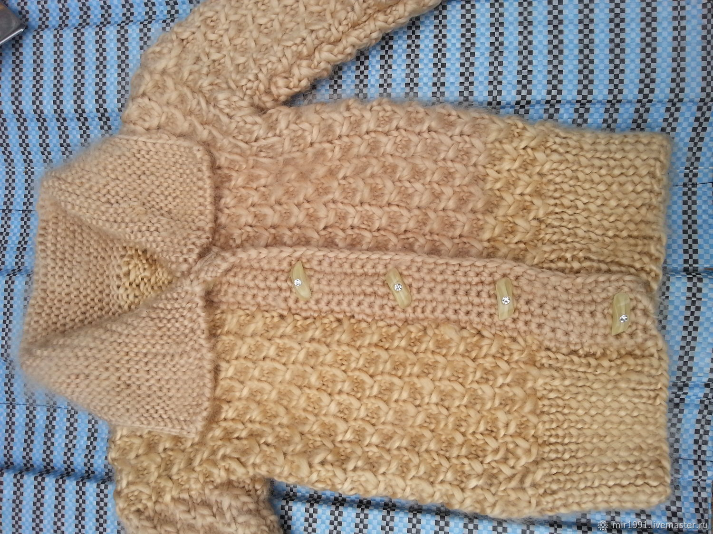 Кофты и свитера ручной работы. Ярмарка Мастеров - ручная работа. Купить Мягкая кофта. Handmade. Золотистый, светлый, ровница