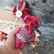 Teddy Toys handmade. Livemaster - original item Pink elephant. Handmade.