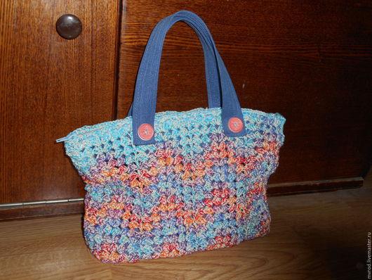 Женские сумки ручной работы. Ярмарка Мастеров - ручная работа. Купить сумочка связанная крючком. Handmade. Комбинированный, орнамент