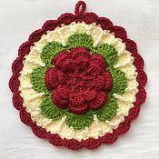 Прихватки ручной работы. Ярмарка Мастеров - ручная работа Прихватка Чайная роза. Handmade.