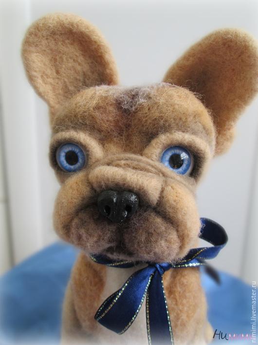 Игрушки животные, ручной работы. Ярмарка Мастеров - ручная работа. Купить французский бульдог щеночек Фунтик. Handmade. Бежевый, француз