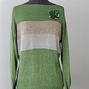 """Пуловеры ручной работы. Ярмарка Мастеров - ручная работа Шелковый пуловер """"Сияющий Авокадо"""". Handmade."""