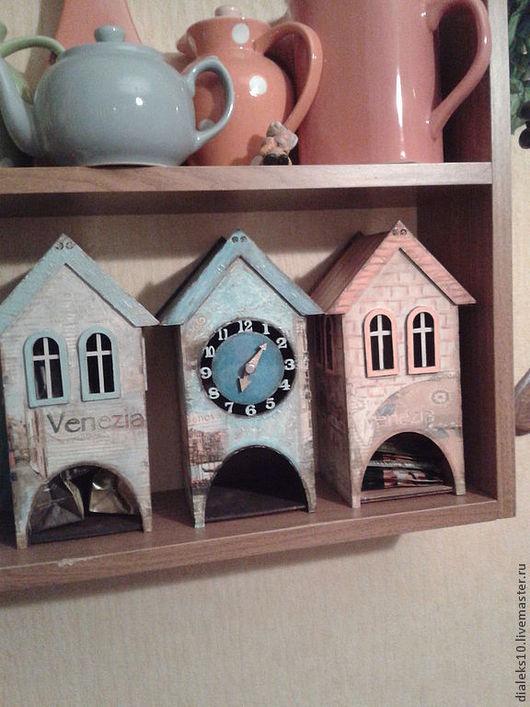 """Кухня ручной работы. Ярмарка Мастеров - ручная работа. Купить Чайный домик """"Старая Венеция"""" (несколько вариантов). Handmade. Коралловый"""
