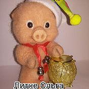 Куклы и игрушки ручной работы. Ярмарка Мастеров - ручная работа Поросёнок Пухля. Handmade.