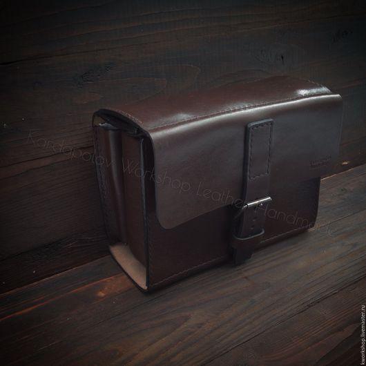 Органайзеры для сумок ручной работы. Ярмарка Мастеров - ручная работа. Купить Несессер из кожи ручной работы. Handmade. Коричневый, органайзер