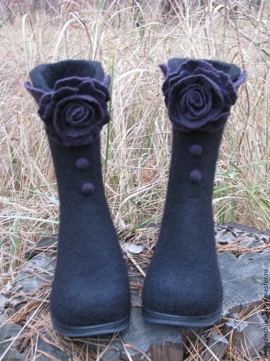 Обувь ручной работы. Ярмарка Мастеров - ручная работа. Купить Валянки. Handmade. Валяние, обувь ручной работы, Овечья шерсть