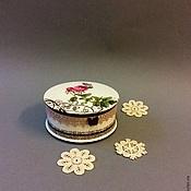 Подарки к праздникам ручной работы. Ярмарка Мастеров - ручная работа Нежная роза.  Шкатулка для украшений. Handmade.