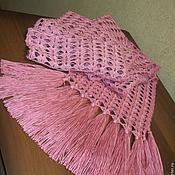 """Аксессуары ручной работы. Ярмарка Мастеров - ручная работа Шарф """"Розовый бутон"""". Handmade."""